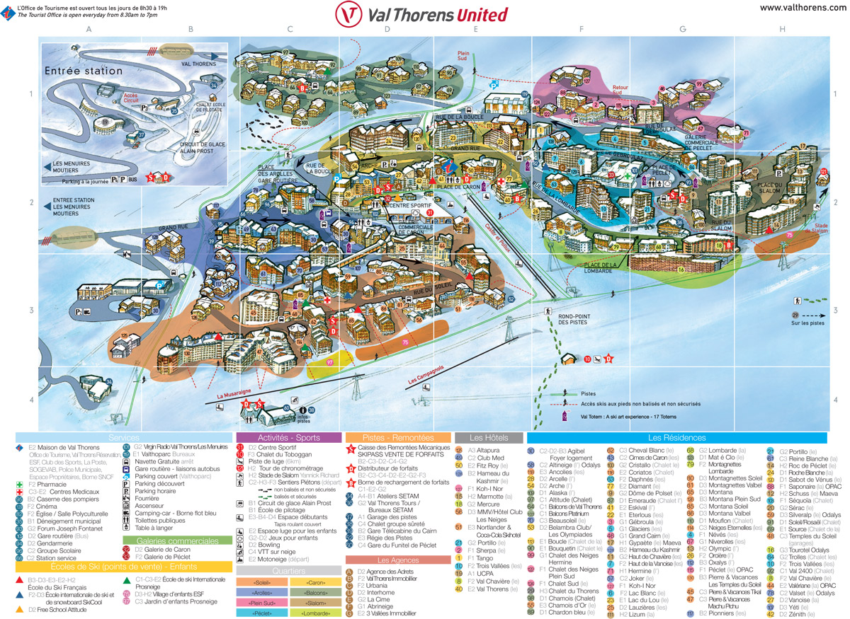 Plan de la station de Val Thorens