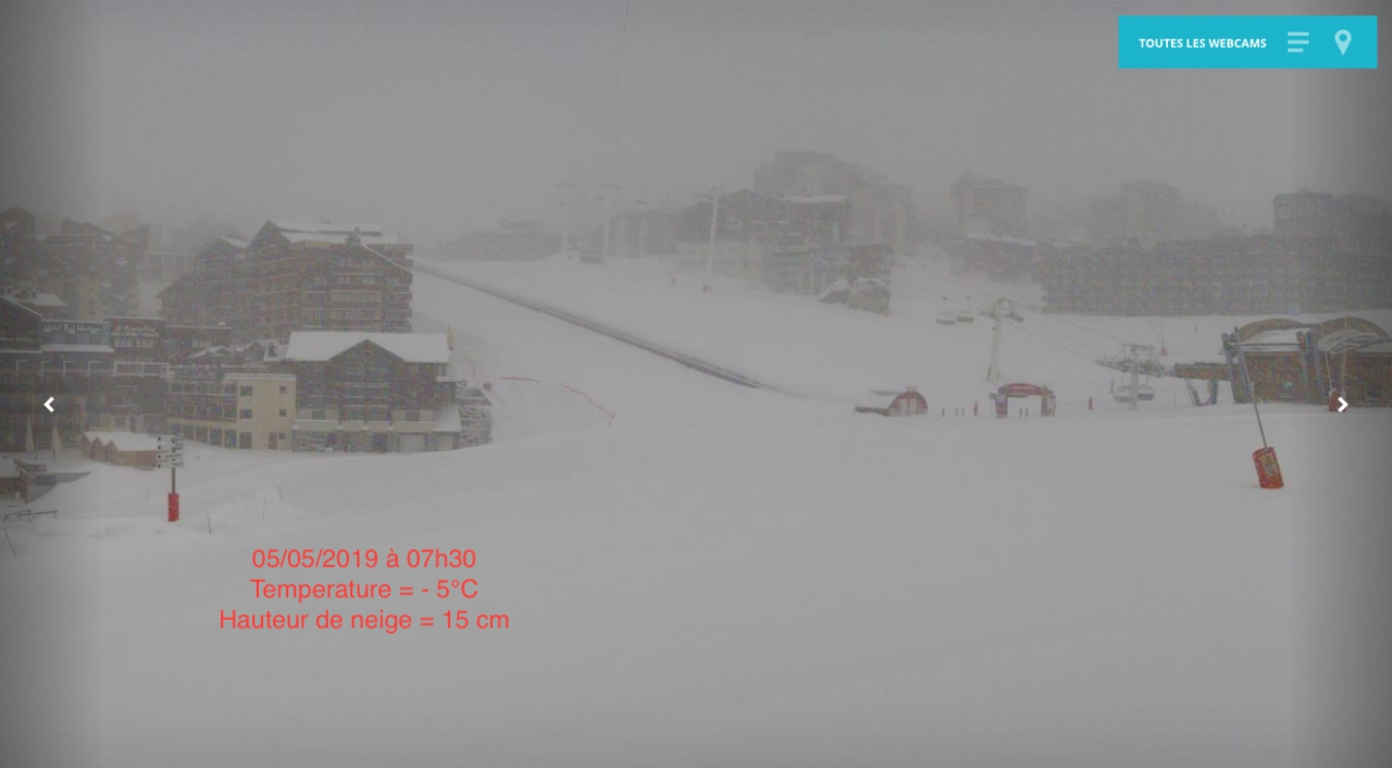webcam val thorens 05 mai 2019